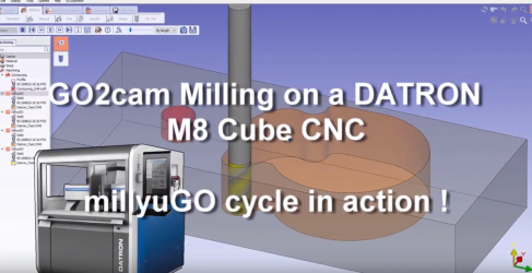 millyuGO in action on a Datron M8Cube