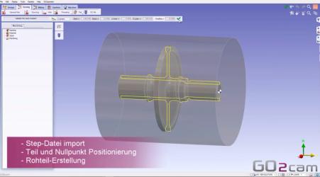 GO2cam V6.06 neue Funktion : automatische Erstellung von Dreh-Zyklen !